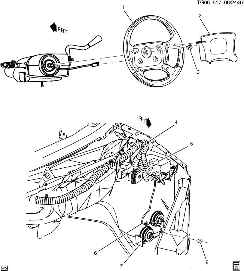 chevrolet express steering wheel  u0026 horn parts