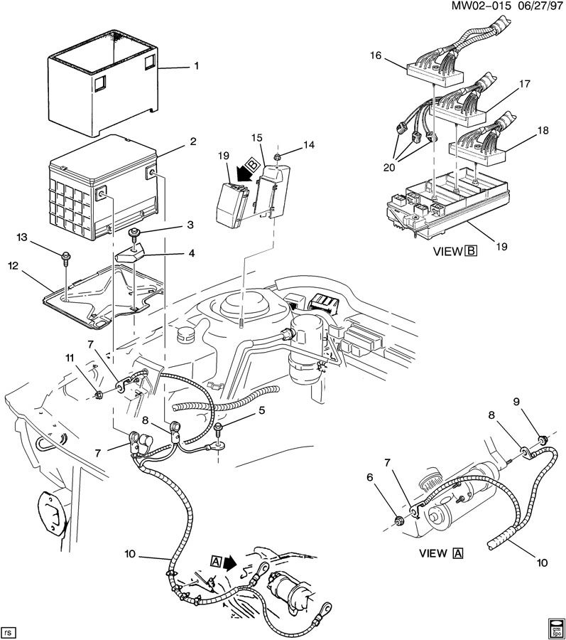 970627MW02-015  Cavalier C Diode Wiring Diagram on