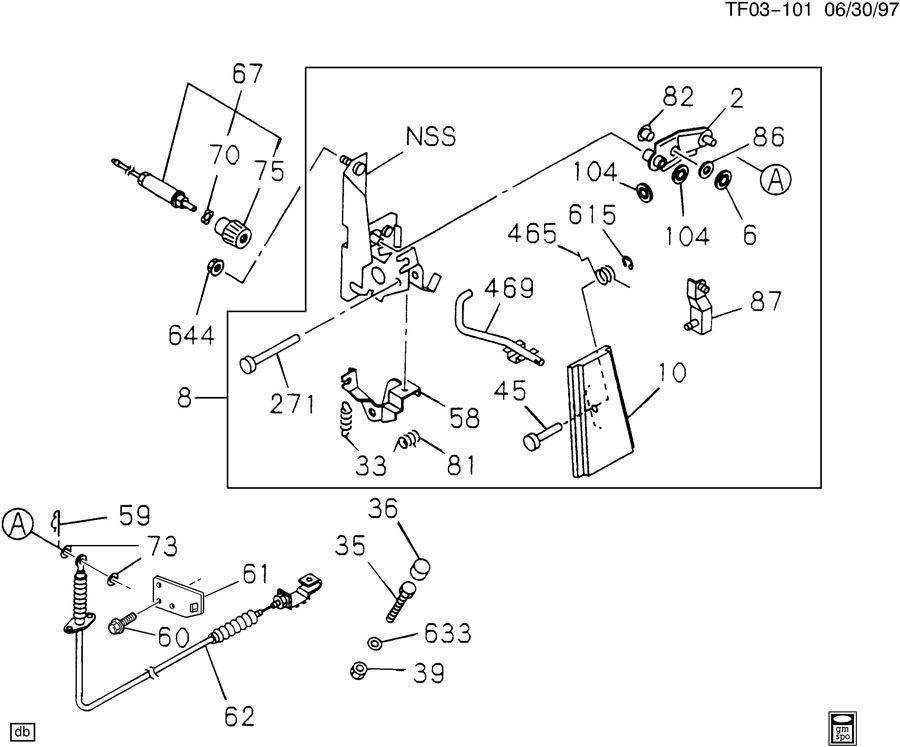 Chevrolet T7500 Nut  Accelerator Linkage  Accelerator