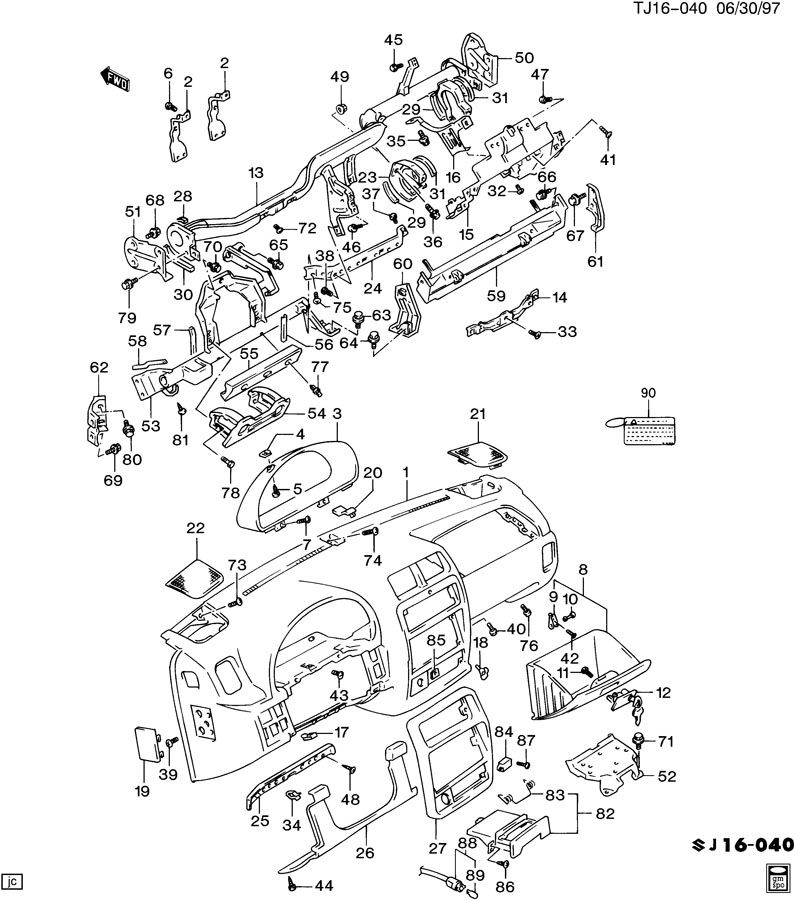 instrument panel  u0026 related parts