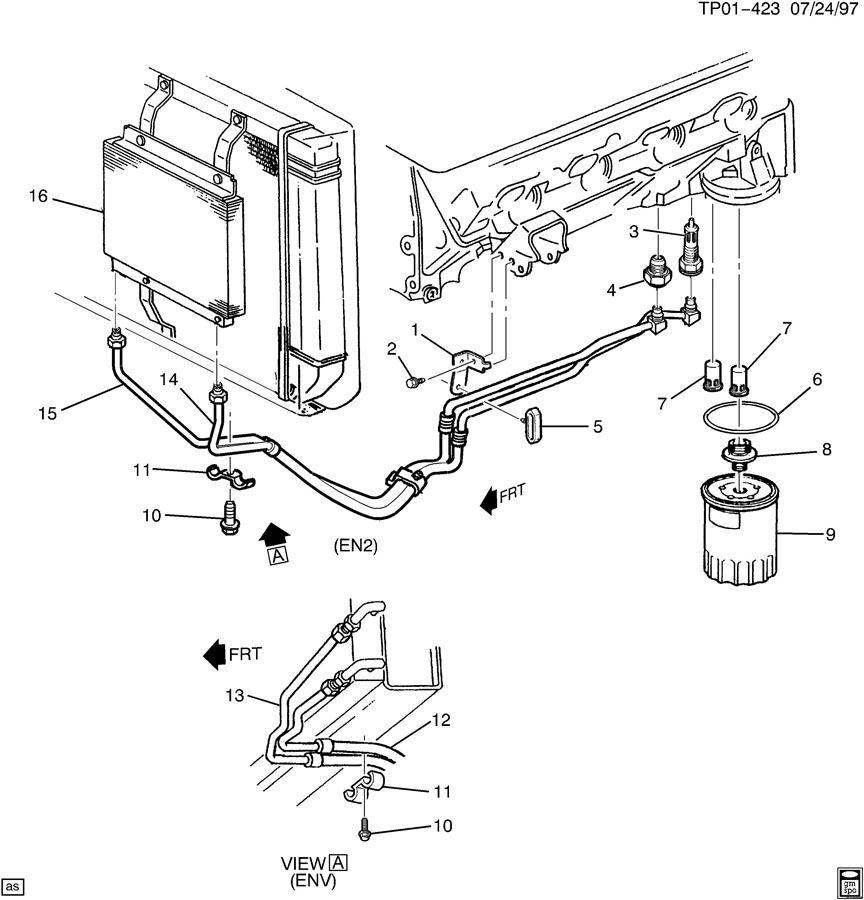 2008 toyota highlander engine oil cooler