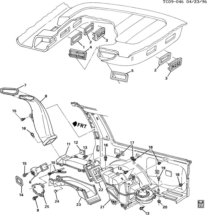 Chevrolet C1500 Actuator  Air Conditioning  A  C  Control