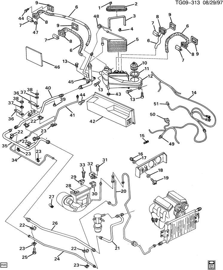 88959521  C  Evaporator Blower  Heater Blower Motor