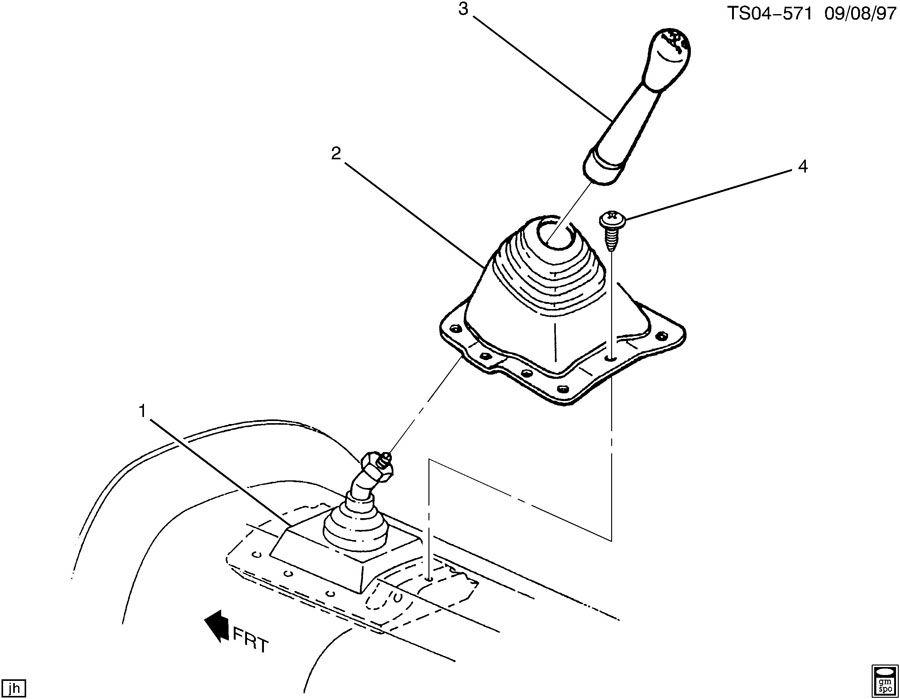 Chevrolet S10 Insulator  Transmission Control Lever  Insulator  M  Trns Cont