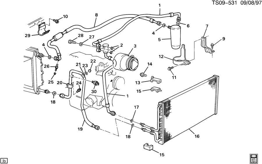 Схема системы охлаждения блейзер
