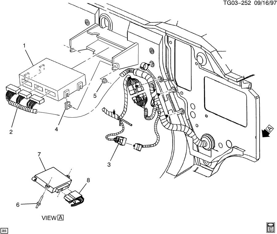 Diagram P.C.M. MODULE & WIRING HARNESS for your Hummer