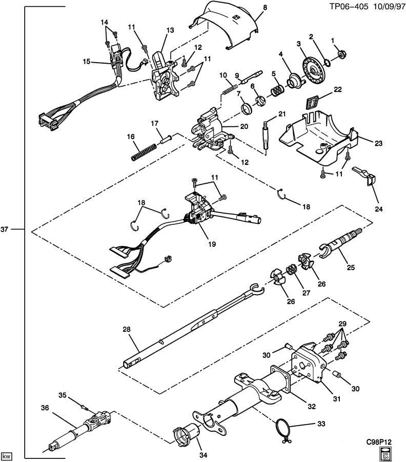 chevrolet p30 bearing steering column 26052238. Black Bedroom Furniture Sets. Home Design Ideas