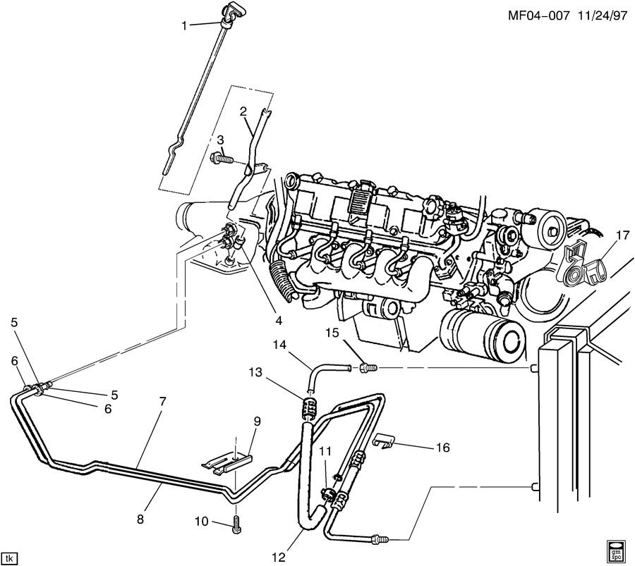 3 7l mustang headers diagram