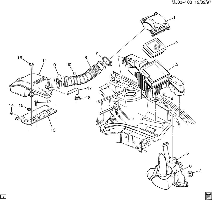 24576120 - Chevrolet Hose. Engine crankcase ventilation ...