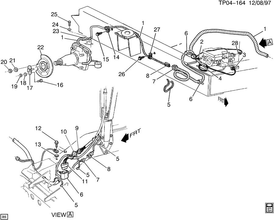chevrolet p30 brake electrical system