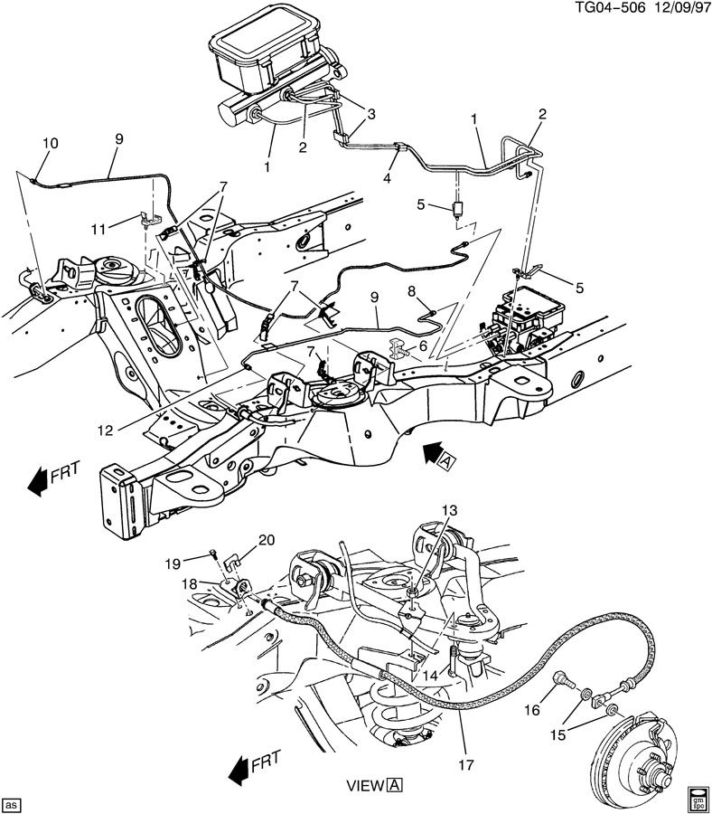 service manual  2012 gmc savana diagram showing brake line