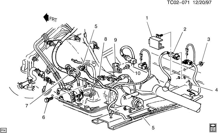wiring harness  oxygen sensors  u0026 heat shields