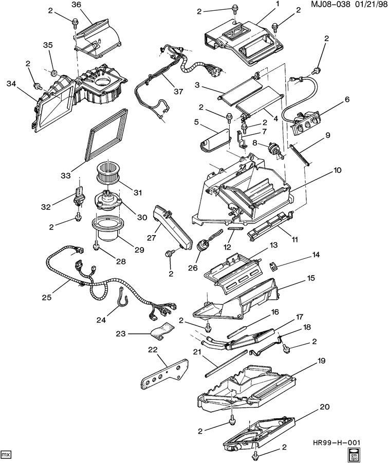 pontiac sunfire air conditioning parts diagram  pontiac