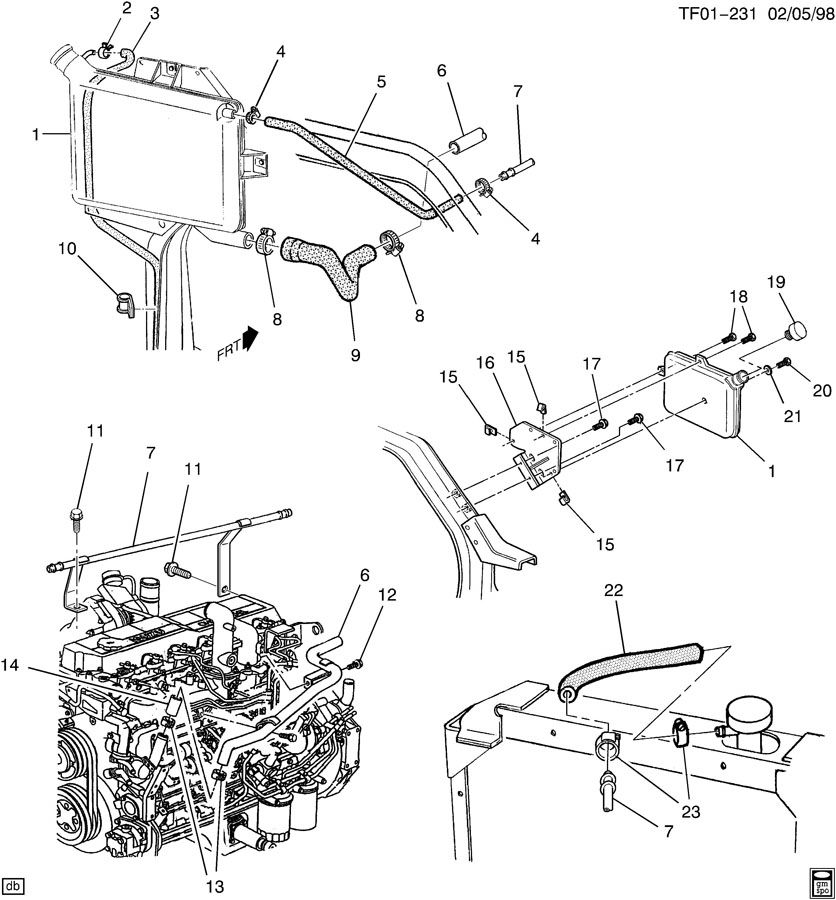 gm cadillac srx engine diagram html