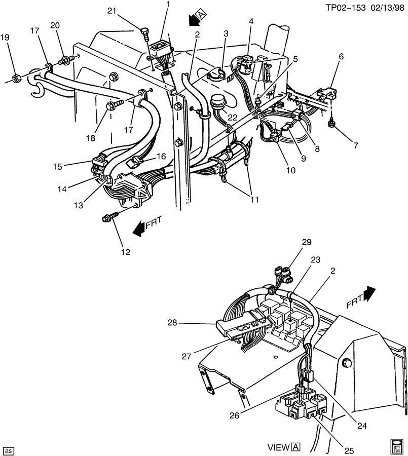 oldsmobile alero wiring harness  engine part 5