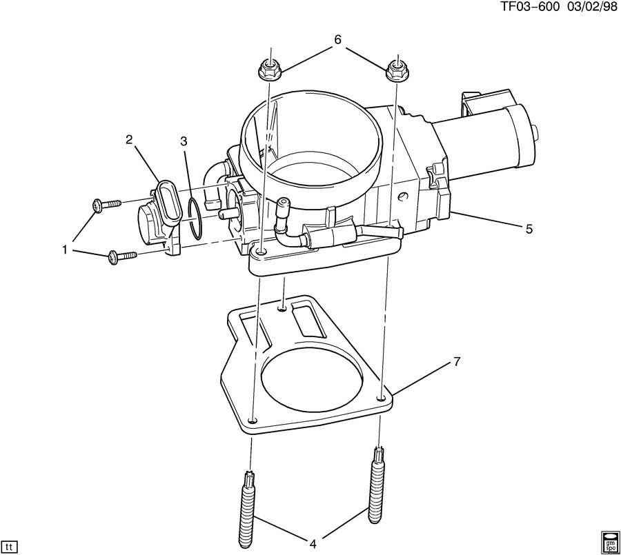 89017691 gmc stud multi port fuel injection throttle. Black Bedroom Furniture Sets. Home Design Ideas