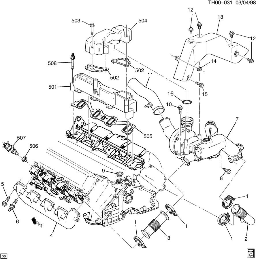Chevy 6 5 Wiring Diagram Library Engine Manifold Intake Exhaust Free Image