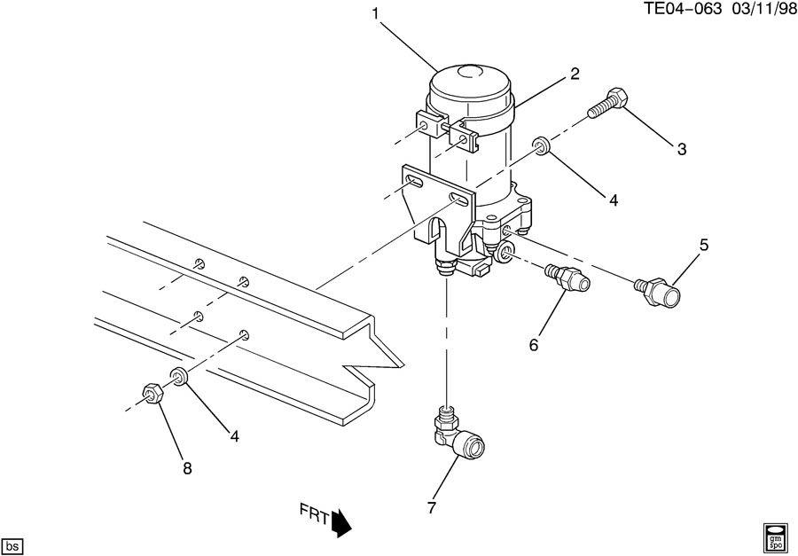 12541174 gm dryer air brake air purification brake. Black Bedroom Furniture Sets. Home Design Ideas