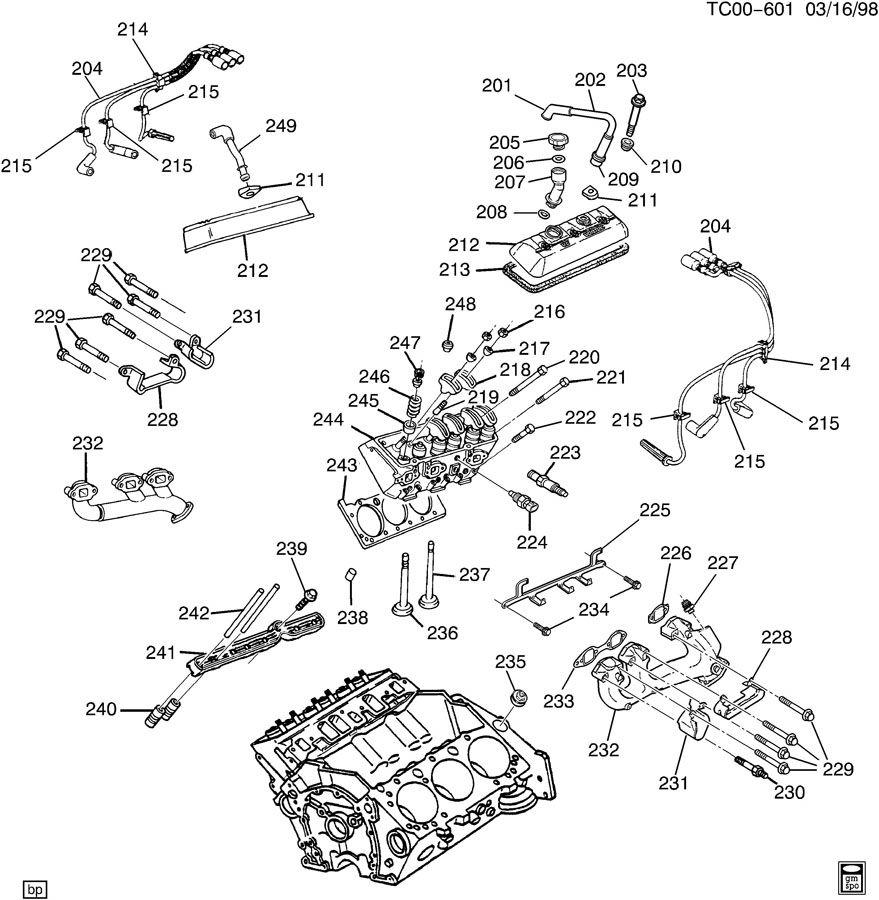 Chevrolet Silverado Manifold  Engine Exhaust Manifold