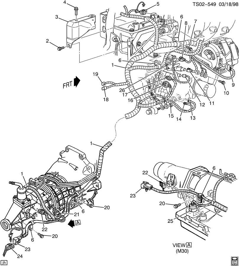 1983 camaro steering column diagram