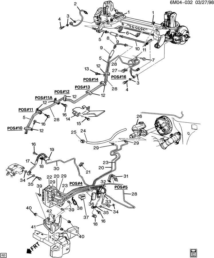 Cadillac Deville Hose  Vacuum Power Brake  Hose  P  B Boos Vac Hose Only  Acdelco  176