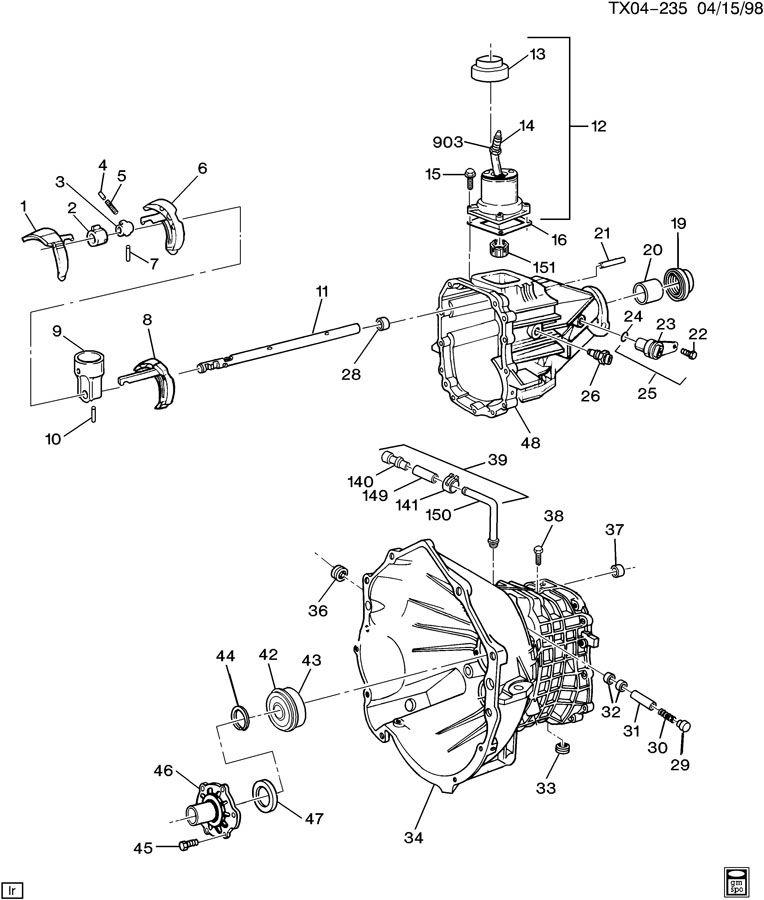 manual transmission shift fork 4 0