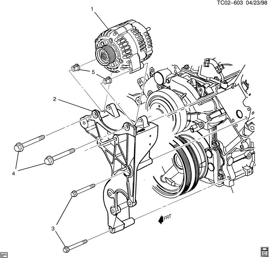 generator mounting  lh8   lh9