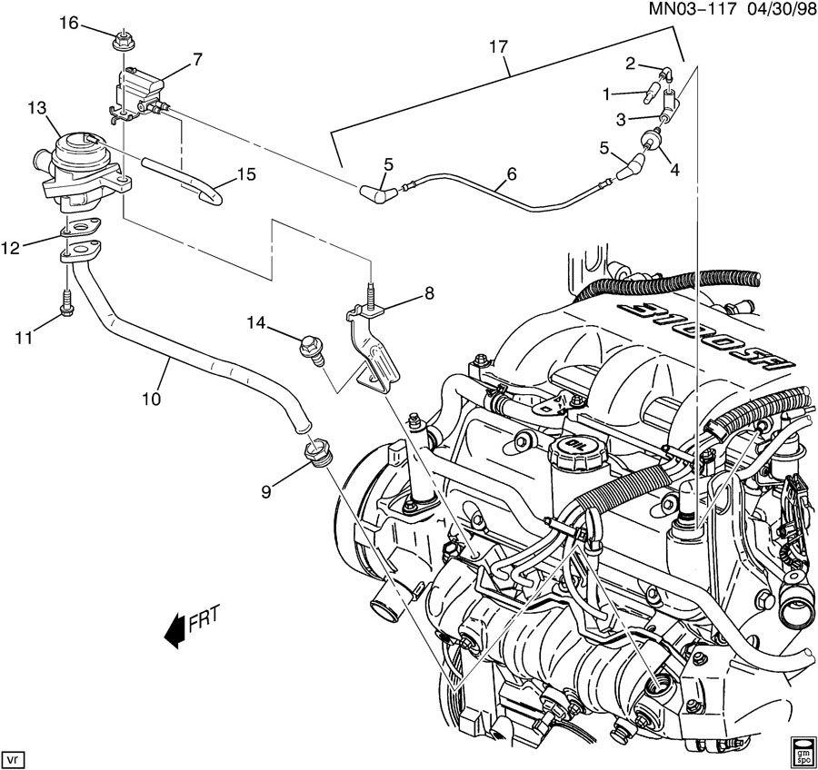 2001 Pontiac Montana A I R  Pump Secondary Air Injection