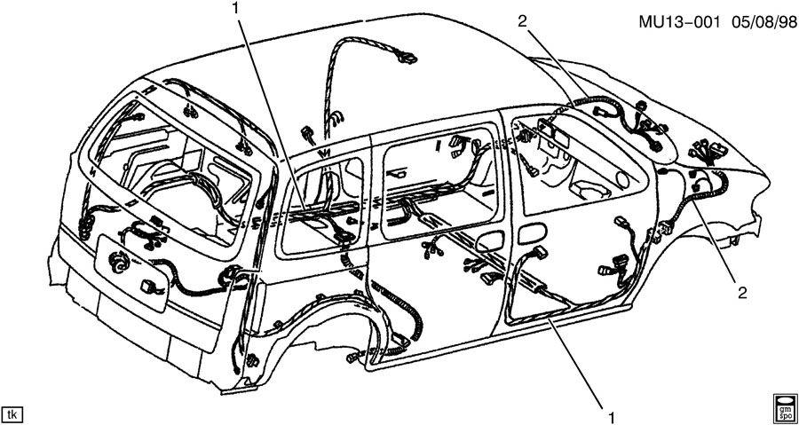 2005 pontiac wiring harness  body