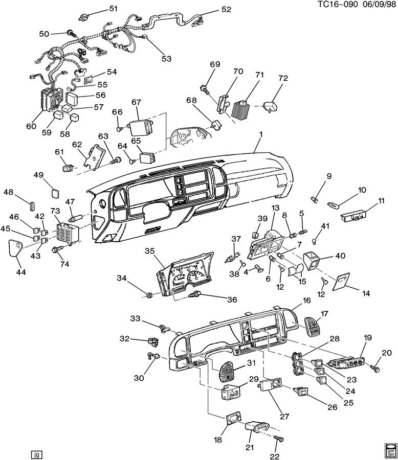 15955703  GM Receiver Door electric and vacuum locks Door lock remote control inside