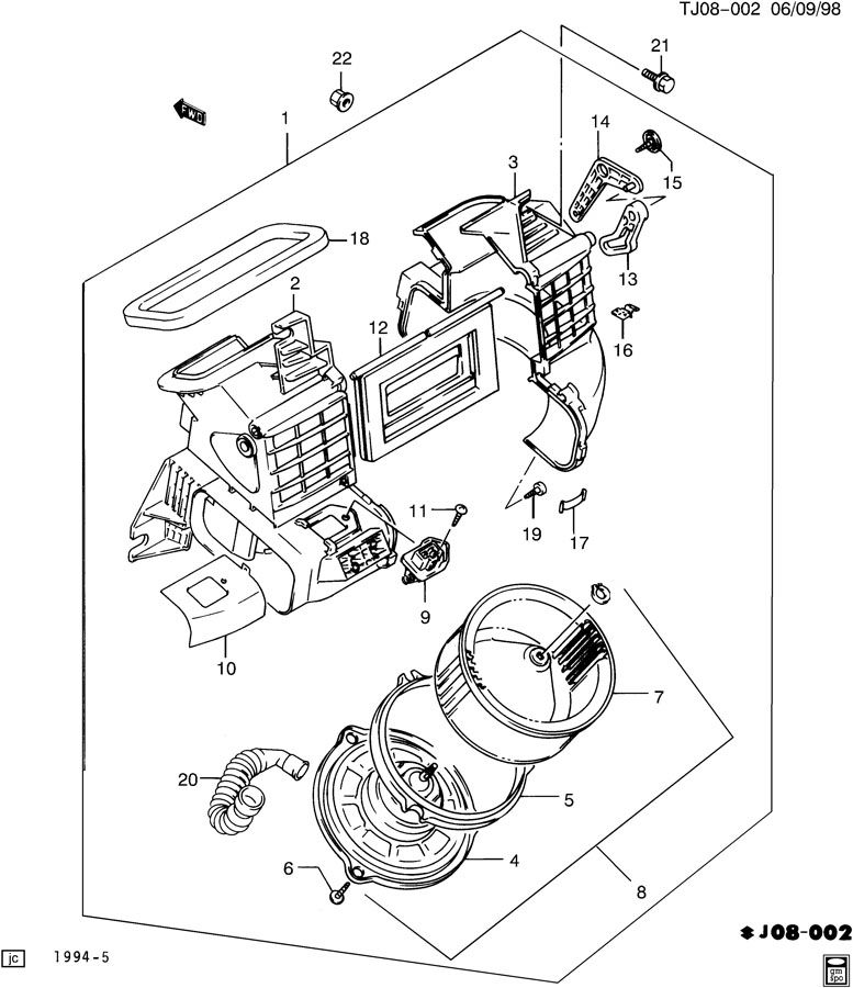 service manual  1992 geo tracker how to remove blower