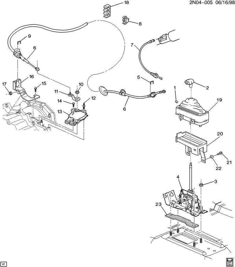 1999 Pontiac Grand Am Transmission: SHIFT CONTROL/AUTOMATIC TRANSMISSION FLOOR