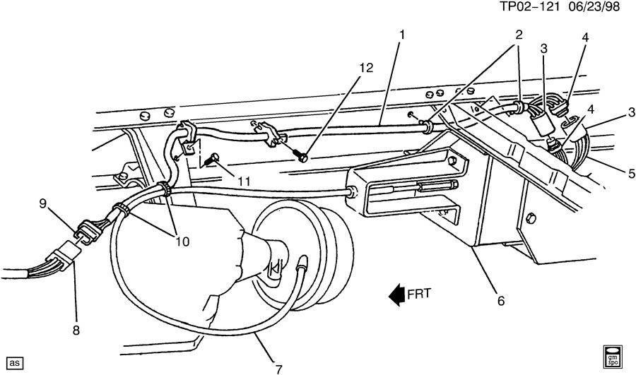wiring harness  park brake actuator