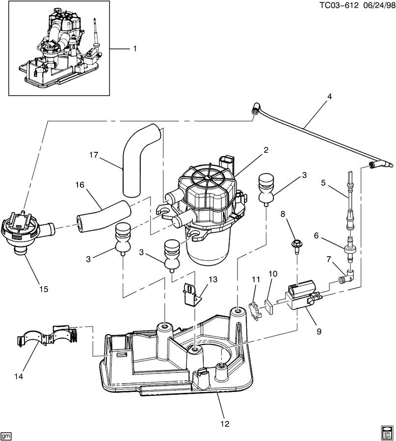 15022543 - Chevrolet Pump  Air Injection Reactor Pump And Multi