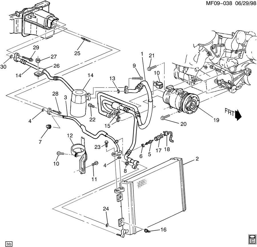 1998 Pontiac Firebird Trans Am A  C Refrigeration System