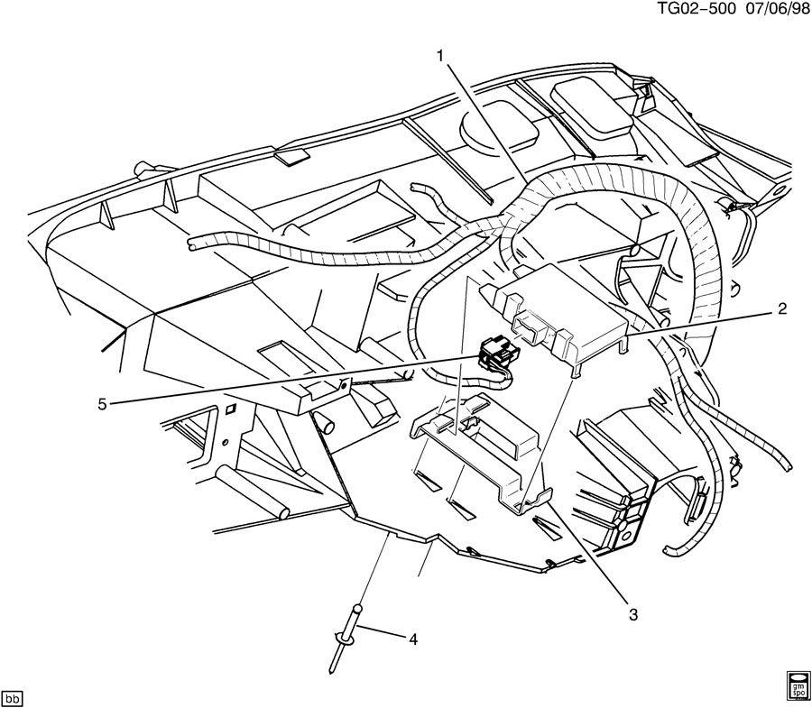 16264985  Rear  Side Object  Module  Theft