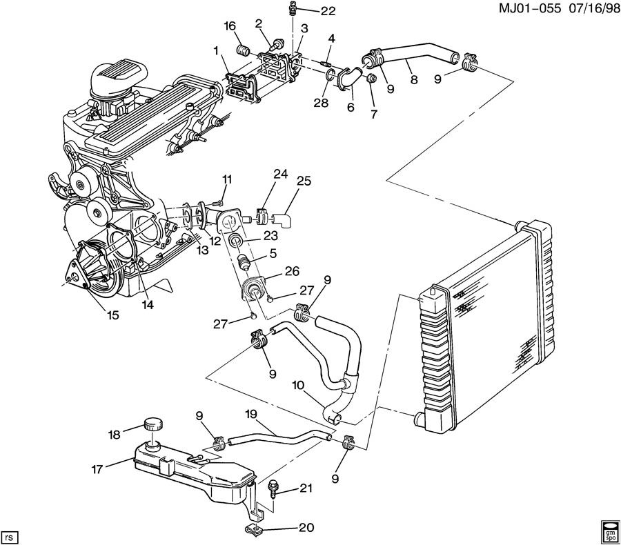 2001 Cavalier Thermostat Location Wiring