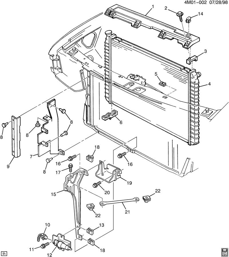 RADIATOR MOUNTING & RELATED PARTS Diagram