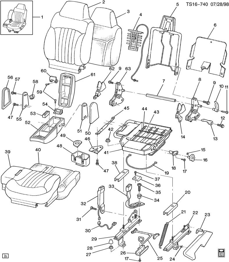Chevrolet Trailblazer Belt Kit  Am6 - Front Split Bench  An3 - Front Bucket Seat  Av5