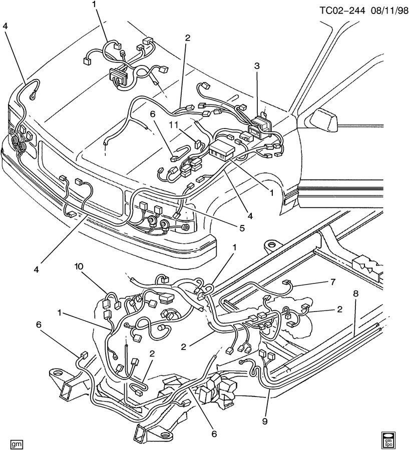 ck307 309  ck310 314 318 wiring harness front  wiring harness front