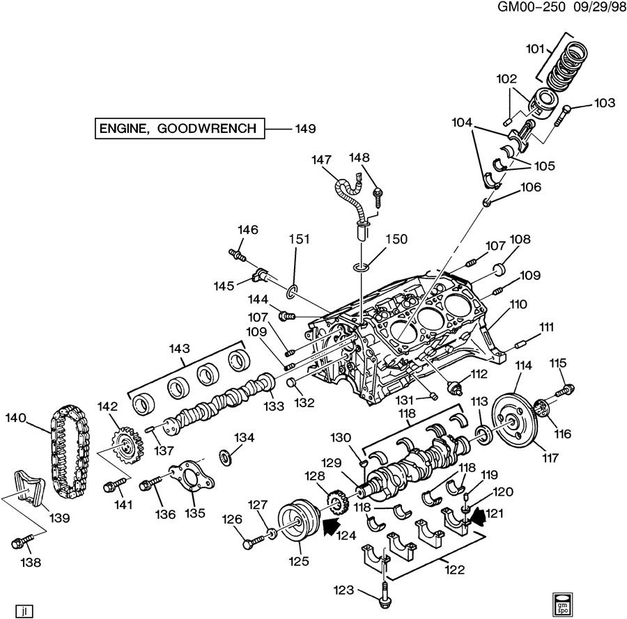 3 4 olds engine oil filter diagram engine asm-3.1l v6 part 1 cylinder block & internal parts 3 1l olds engine diagram