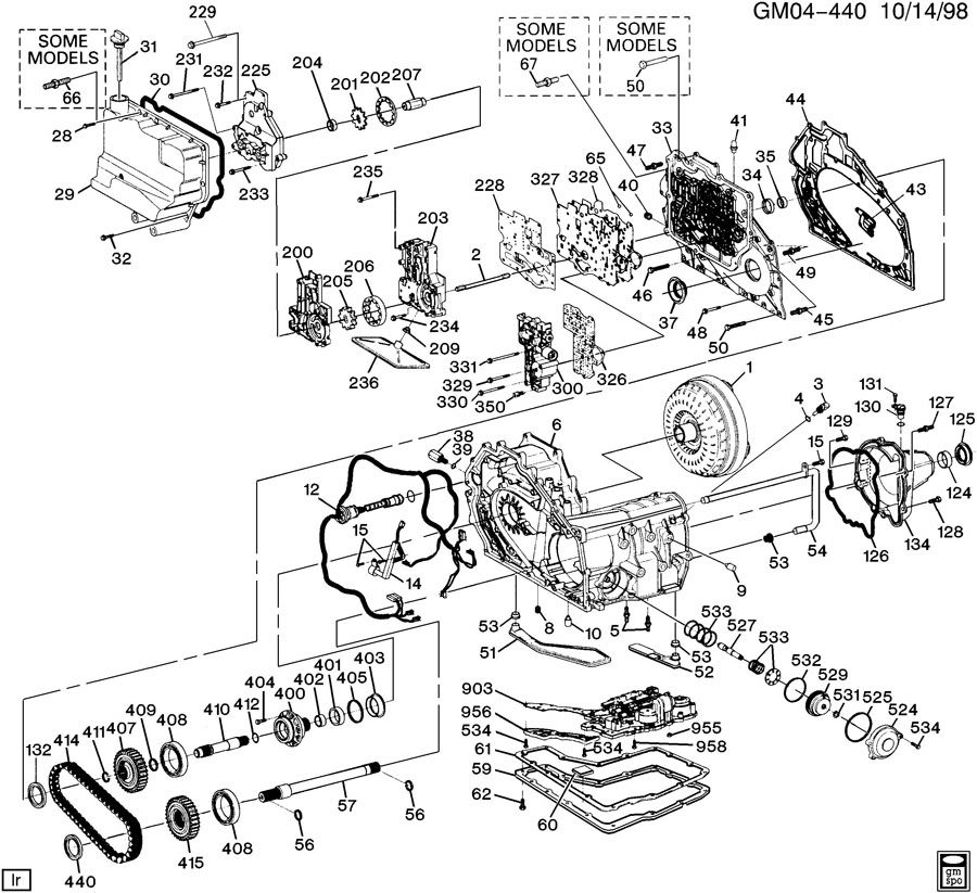 Diagram AUTOMATIC TRANSMISSION for your 1996 Cadillac Seville Base 4DR