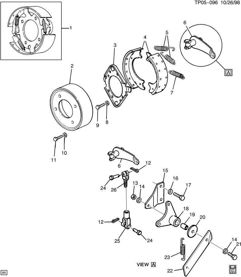 chevrolet p30 shoe  driveline parking brake  shoe kit  lining kit  lining set  propeller