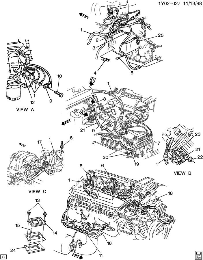 75 corvette wiring diagram