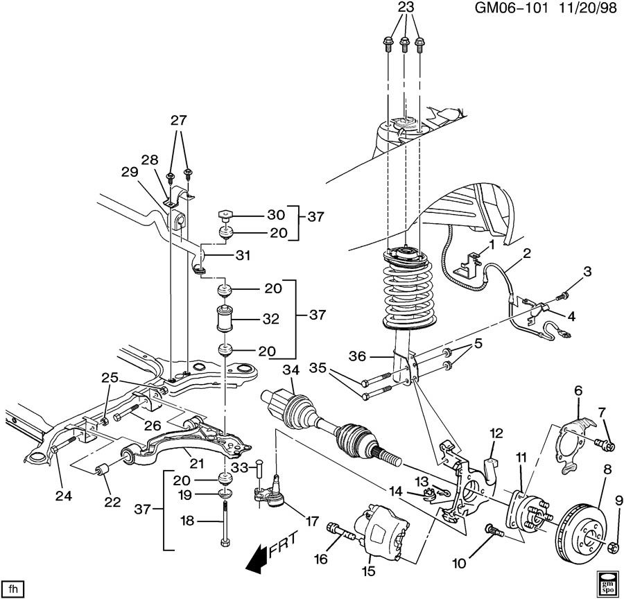 Buick Rendezvous 2002 Traction System Wiring Diagram