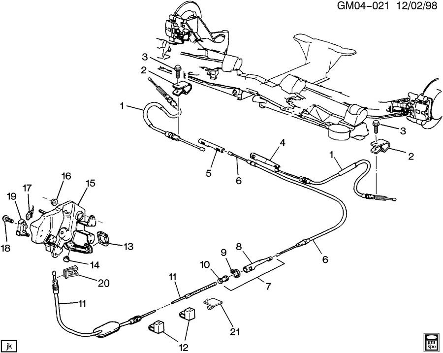 Gm on 2002 Buick Lesabre Parking Brake Cable