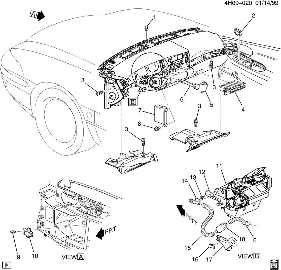 9901144H09-020  Buick Lasabre Full Wiring Diagram on