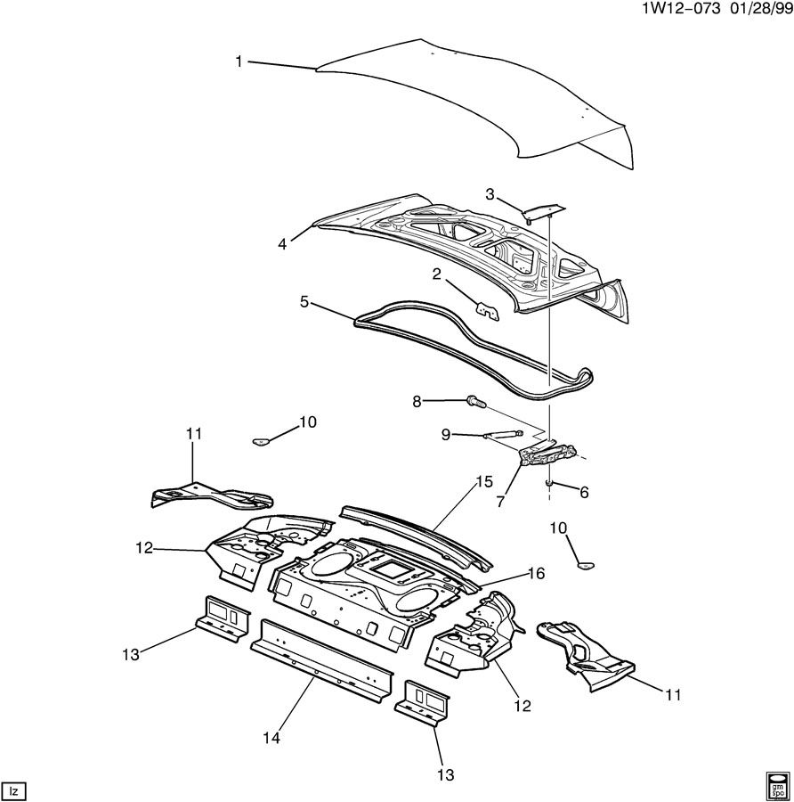 2002 chevrolet impala sheet metal  body