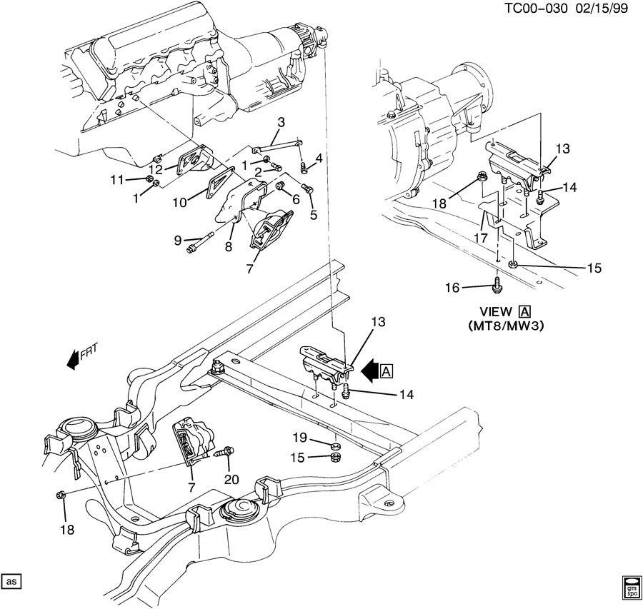 Chevrolet K2500 Engine Amp Transmission Mounting V8