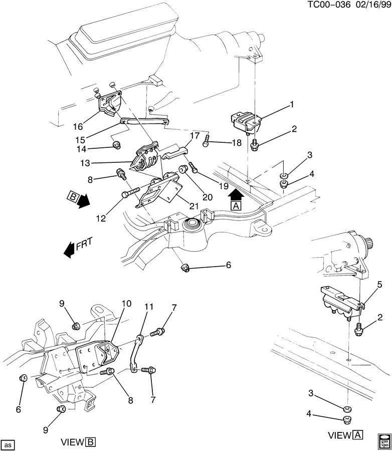 1992 Chevrolet K1500 Bracket  Engine Mounting  Bracket